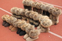 2012 new style Australia 5825 lady leather chestnut 5815 boots tall short womens Australian winter wool fox fur warm boot 5854