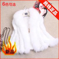 Chopop  fox fur mink fur coat cape vest the bride wedding dress Winter Warm Female Wraps OEM Wholesale/Retail