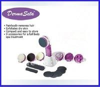 10pcs/lot Derma Seta  Massager Ultimate Full Body SPA Treatment System,Massager Cleaning Kit,Hair Remove,Exfoliafes Dry Skin