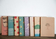 Freeshipping! NEW vintage paint pattern Notebook/ Paper Notepad / blank inner page book/Wholesale(China (Mainland))