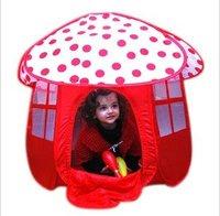KT1 Children Tent Kids Play Game House Red Mushroom