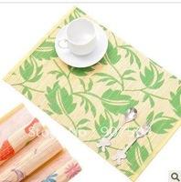 Ikea printing bamboo mat insulating pad waterproof pad table mat eat mat single loading B350