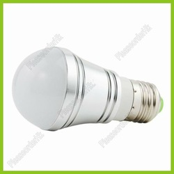 E27 Screw Base LED Lamp Bulb Low Consumption 3W 270LM For Architectural and Art Galleries Lighting Free Shipping(China (Mainland))