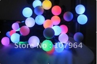 RGB White  color  5M 50  LED  220V  Colorful discoloration bead lamp Party  Decorations Garden Christmas and wedding Lights