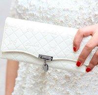 Promotion ! NEW Popular Quality Women's Bowknot Long Wallet Clutch Button Handbag Case PurseFree Shipping WW04
