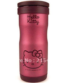 Hello kitty metal filter mesh vacuum cup warmers vacuum pot scrub metal cup