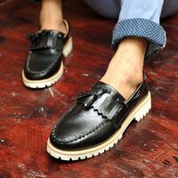 free shipping Autumn popular men's platform shoes fashion skateboarding shoes men's casual shoes fashion leather shoes