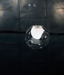 Free shipping! 28 series double cover glass ball pendant light(1 head) Color soap bubble droplight modern glass lamp bubble lamp(China (Mainland))