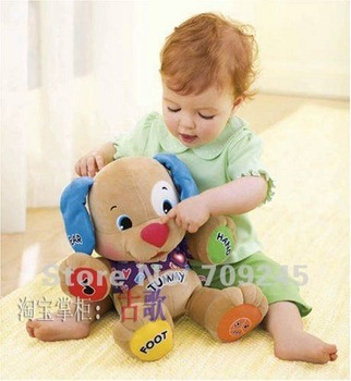 Fisher Music Dog For Childs Learning English Hearts Edition Fisher Puzzle Children's Smart Toys for Christmas Gifts