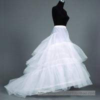The bride wedding dress hard sand big train bustle crinolette skirt ring pannier