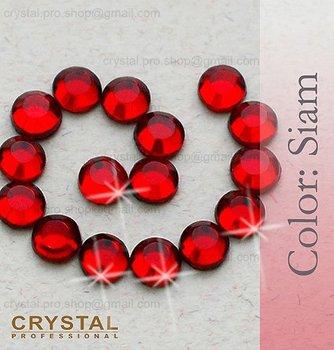144 pcs ss10 Siam Red 3mm wholesale bulk 10ss glass Crystal hot fix iron on Loose bead clear stone FLATBACK hotfix rhinestone