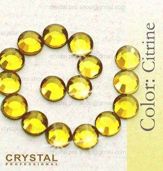 144 pcs ss10 Citrine yellow 3mm bulk wholesale 10ss glass Crystal iron on Loose bead stone FLATBACK hotfix hot fix rhinestones
