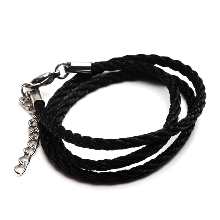 Jewelry titanium lobster clasp cotton rope necklace cotton male with chain ps01(China (Mainland))