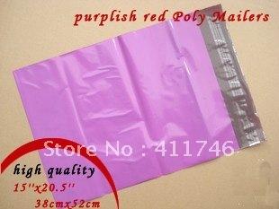 100pcs PURPLISH RED POLY MAILERS SHIPPING ENVELOPES PLASTIC SELF SEALING BAGS15'' x 20.5'' 38cmx52cm