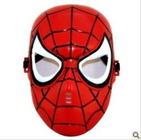 2014 Real Direct Selling Pvc Freeshipping Wholesale Party/children Mask Masquerade Animation Cartoon Spider-man Red(10pcs/lot)