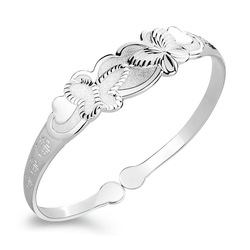 2012 new arrival butterfly language of bracelet 99 fine silver accessories jewelry gift(China (Mainland))