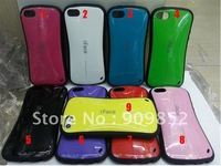 High Quality iFace Case For iPhone 5 5g,For iPhone 5 Candy Color PC+silicon Case, 20pcs/lot Free Shipping