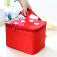 The Strawberry Square  Lunch box bag/Red Cartoon Lunch cooler bags/ Food Container Warming Bags /Oxford cloth/Tarps/EPE/Aluminum