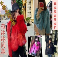 2012 new  women's fur jacket lades fur jacket   women's top black fox short  coat four colors to choiece  Wholesale price