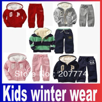 Brand Kids winter wear more designs/colors Hoodies+pant 2pcs set baby suit hoodies clothes children sport wear Free Shipping