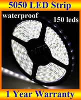 hot sale 12V 5050 smd led strip nature white, 5M 150 LEDs waterproof outdoor ribbon christmas DHL Free shipping