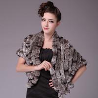 free shipping 100% rex rabbit fur shawl/ rex rabbit fur pashimina su-12176