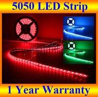 HOT wedding and christmas decoration, 12V smd5050 led 5M 150 LEDs rgb waterproof led strips