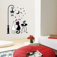 Wall stickers wall stickers lovers cat strightlightsstreetlights cartoon