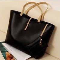2014 fashion women designers Brand handbags high quality shoulder bags for woman genuine PU leather organizer totes black TC135