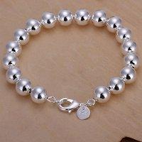 Lose money promotion! high quality 925 silver jewelry, silver fashion bracelet jewelry, 10M Hollow Beads Bracelet