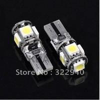 Free Shipping 30pcs/lot T10 W5W 194 5050 SMD 5 LED Error Free Car Canbus LED Lamp NO OBC Error White Light Bulbs