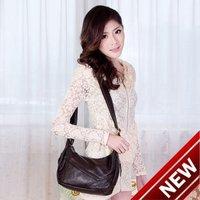 2012 genuine leather women messenger bag / cowhide casual cross-body women's shoulderbag/ Vintage leather shoulderbags for women