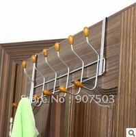 Creative household beads 12 hook stainless steel door back type hanger door hook coat hook C612