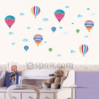 DIY Adhesive Fire Ballon Removable Nursery Wall Decal for Kids