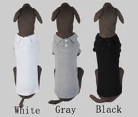 Pet clothes summer polo shirt three-color large dog t-shirt