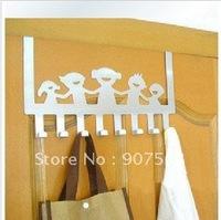 Creative household stainless steel door back type multi-purpose clothes hanger/door hook B828 happiness family