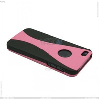 High quality 3 in 1 Wine Glass Style PC Protector Case Cover With Black Back for iPhone 5 P-IPH5PC077