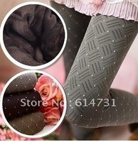 Free Shipping New Black Bamboo Carbon Fiber Leggings Double Thermal Warm Footless Tighten Pants, 3 Colors