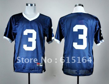 Free Shipping NCAA Colleage Football Jerseys Penn State Nittany Lions # 3 Blue Jersey Size:48-56 Mix Order