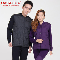 2012 winter thickening cotton-padded jacket berber fleece wadded jacket cotton-padded jacket female outerwear medium-long