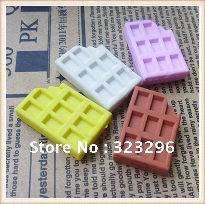 Free Shipping,40pc/lot Christmas gift Children Cute Rubber Eraser / New fancy chocolate eraser /fancy eraser/mini(China (Mainland))