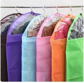 Christmas promotion non-woven thickened suit dustproof Clothes cover bag Suit Coat dust cover with a small mouth