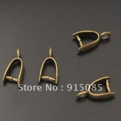 Antique Style Brass Tone pinch bail pendant 15pcs 05414 13*7*4mm(China (Mainland))
