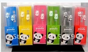 Free Shipping 10pcs +lovey panda in-Earphone Headphone Headset for ipod mp3/mp4 phone high quality earphone