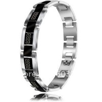 #TGB006 titanium steel jewelry  the great wall men's fashion bangle/bracelet  Free shipping