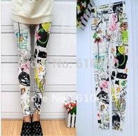 cotton handwriting lady JEANS pantyhose,eco-friendly,breathable,soft leggings women pants