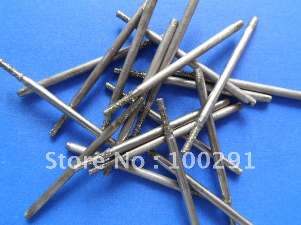 10pcs 1.5mm *2.35cm JEWELRY STONE GLASS DIAMOND DRILL BITS (free shipping )(China (Mainland))