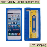 New Retro Cassette Tape silicone Case Cover For Apple iPod Touch 5 5G 5th Free Shipping UPS DHL EMS HKPAM CPAM PA-4