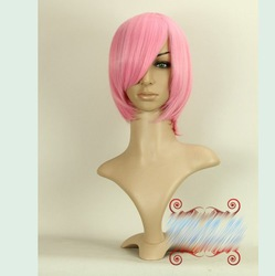 Haruno Sakura Pink MSN Short Straight Cosplay Wig Synthetic Hair.Free shipping(China (Mainland))