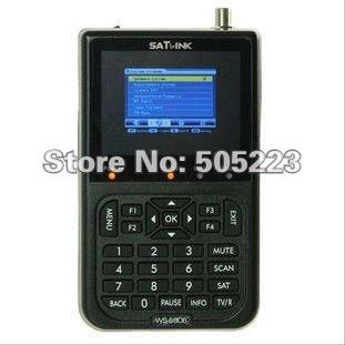 """1pc/lot original Satlink WS-6906 3.5"""" DVB-S FTA digital satellite meter satellite finder ws 6906 satlink ws6906 free shipping"""